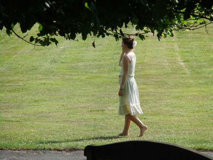 15. Does everyone walk around barefoot?