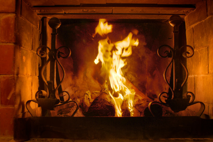 10. You finally get to put your fireplace to good use, and cuddle up with your loved ones while sipping on a steaming cup of hot cocoa.