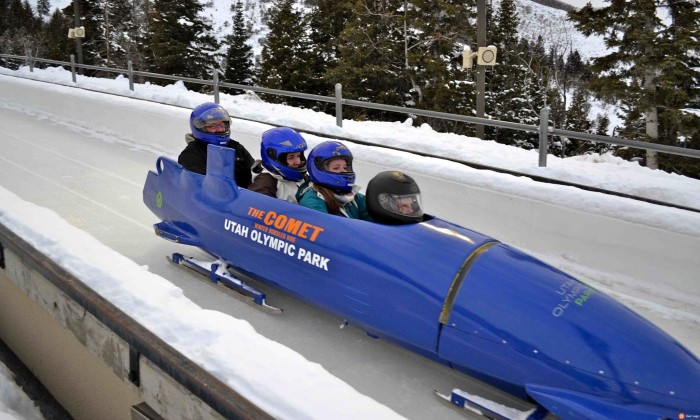 1. Speed down the Olympic track on the Winter Comet Bobsled.