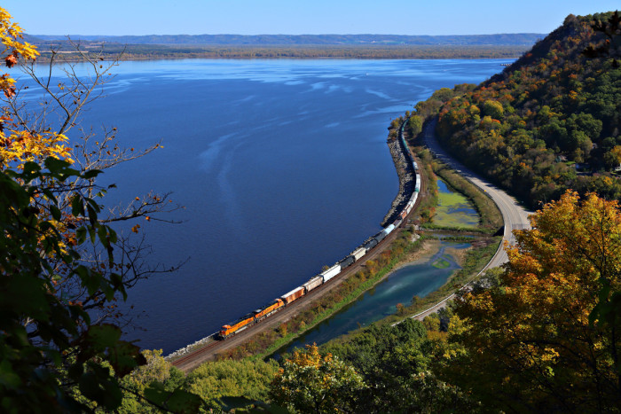 10. Climbing the bluffs at Maple Springs on Lake Pepin will give you phenomenal Mississippi views without the crowds.