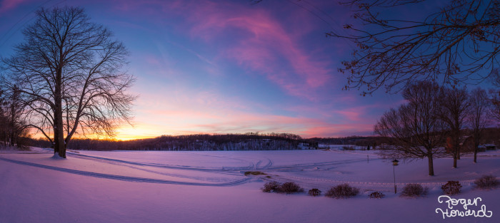 6. In Spring Valley, looking out over the snowy field is always peaceful.