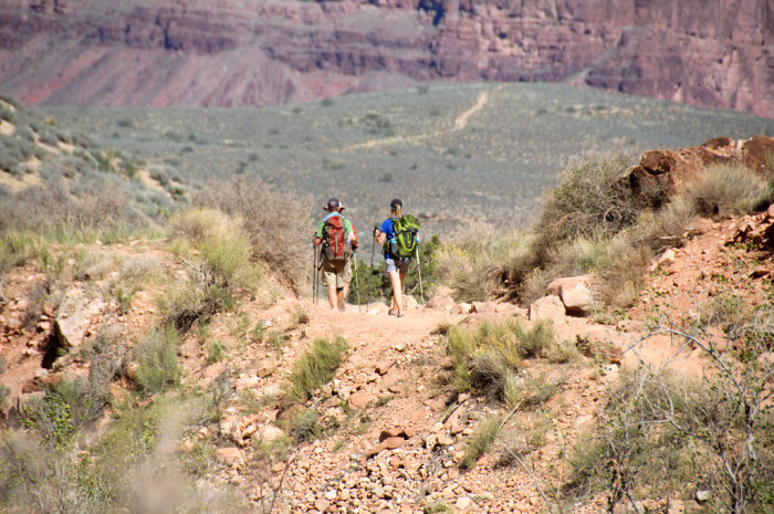2. Back then, you would never know someone hiked up and down Bright Angel Trail unless they personally told you.