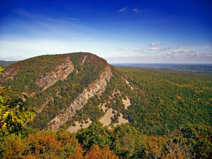 5. Mount Tammany, as seen from the Appalachian Trail.