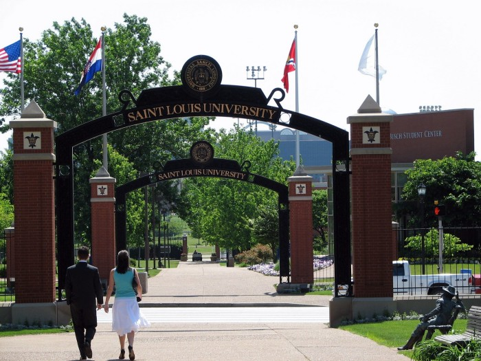 15.	Saint Louis University received a formal charter from the state of Missouri in 1832, making it the oldest university west of the Mississippi River.