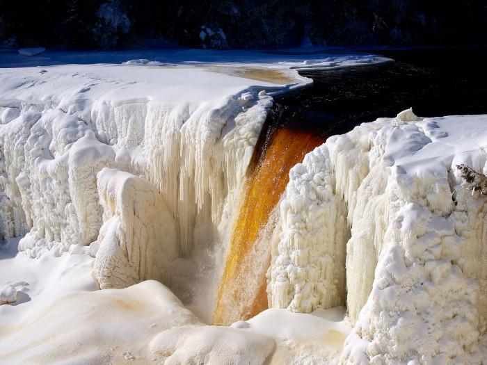 1) Ice formations at Tahquamenon Falls