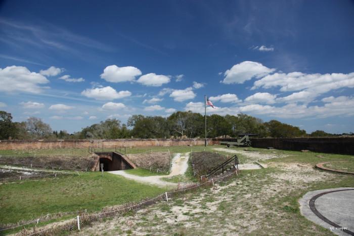 3. Follow the secret tunnels beneath Fort San Carlos de Barrancas in Pensacola to a hidden chamber filled with hidden treasure.