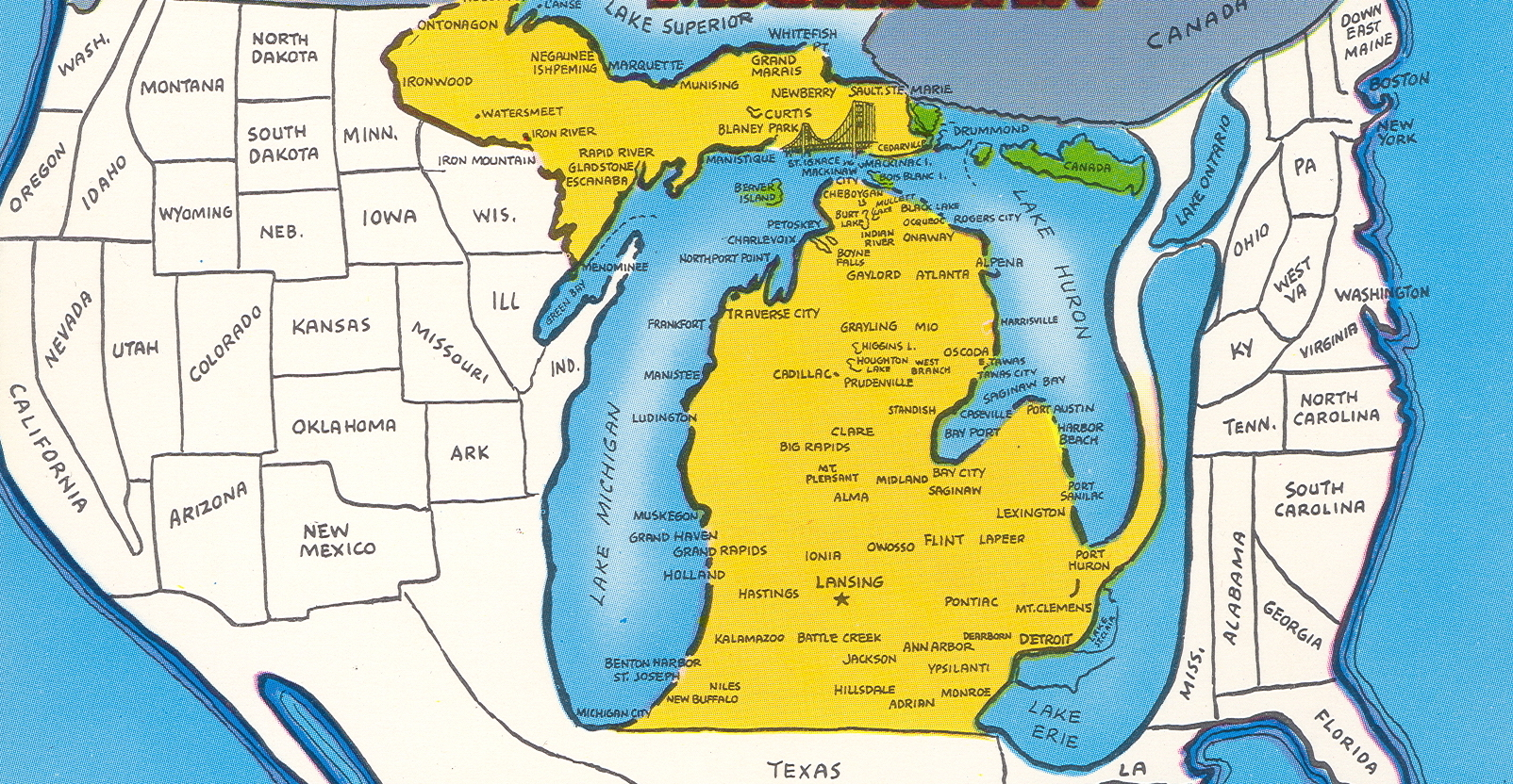 Maps Of Michigan That Are Just Too Perfect And Hilarious - Ann arbor michigan map