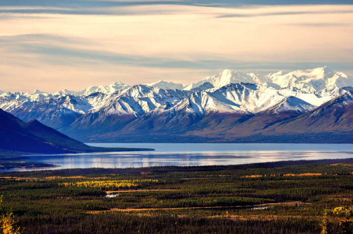 6) It's hard NOT to take a second look when you've got a view like this. All over Alaska you can stop and witness the majestic beauty  of the Chugach Mountains.
