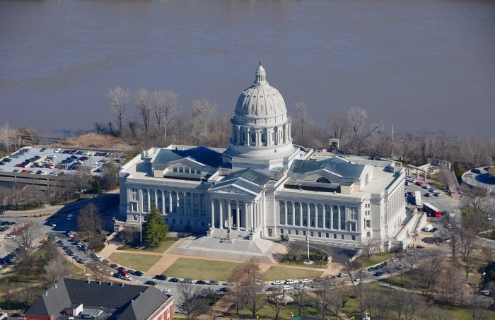 16.	The capitol building in Jefferson City has burned down twice.  First in 1837 and then again in 1911.
