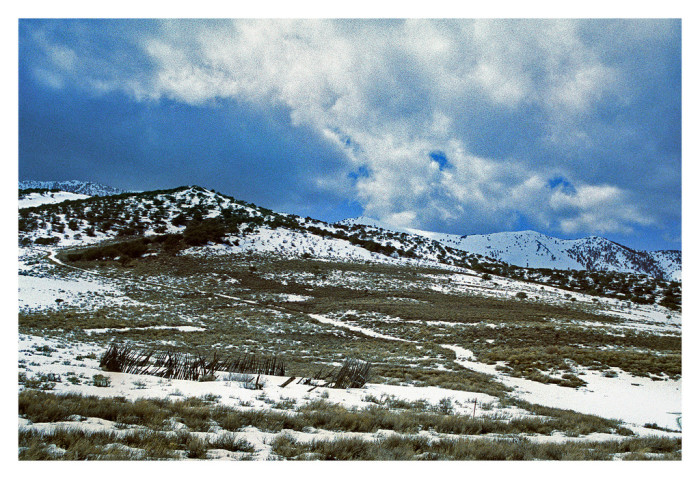 9. The ghost town of Hamilton, Nevada is lovely during wintertime.