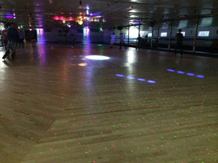 6. For a family fun night, there were the local roller rinks…