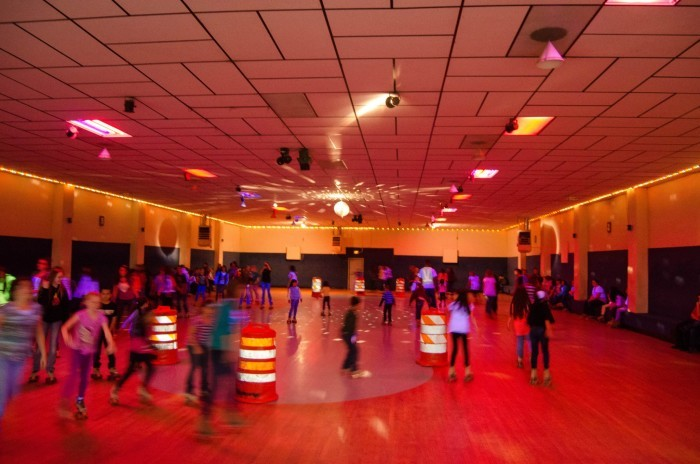 7. ...meeting our friends at the roller rink...