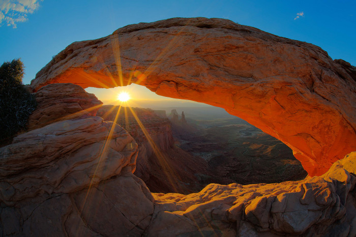 1. Watch the sun rise at Mesa Arch.