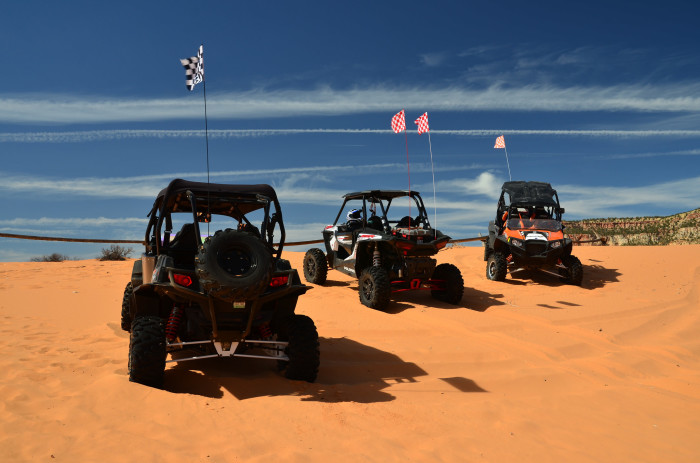 5. Ride an ATV at Coral Pink Sand Dunes State Park.
