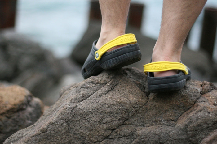 9. We won't judge you for hiking in Crocs.