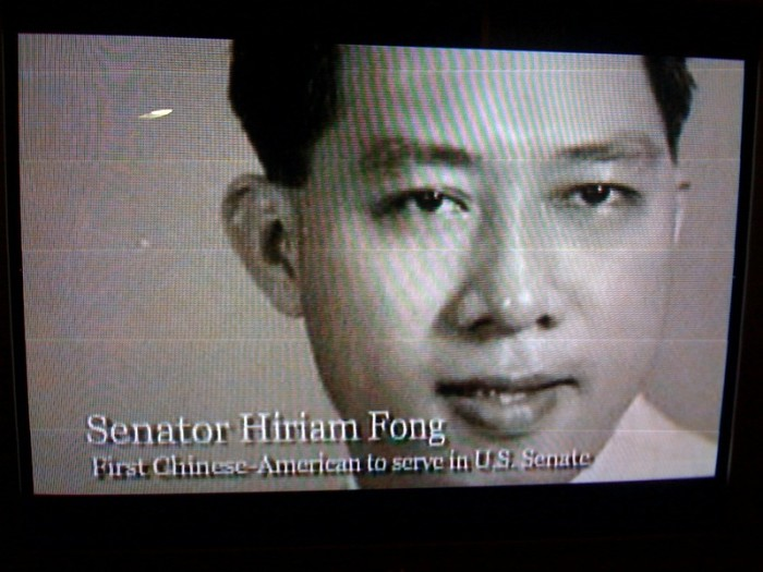 2) The first Asian-American in the United States Senate was Hawaii's Hiram Fong.