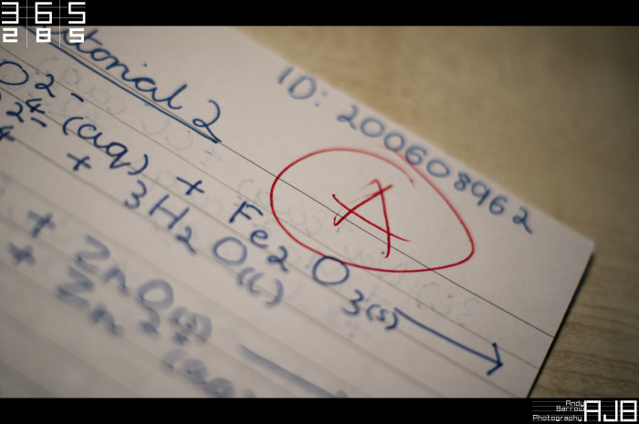 2. Your English teacher remembered your mother's score on her 10th grade final exam...