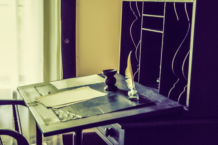 2. Writing desk, Lexington Historic Battle site by Niki Kind Conrad.