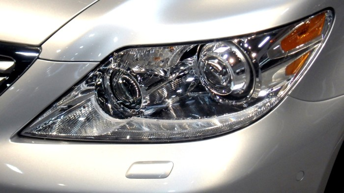2. Make your headlights look like new with a little toothpaste and hot water!