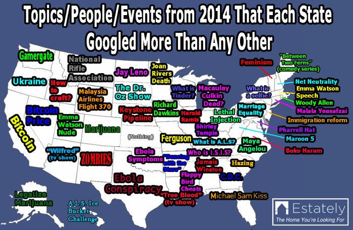 """1. We Googled """"nothing"""" more than any other state?!"""