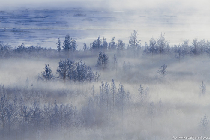 3) Icy fog over Tanana River.