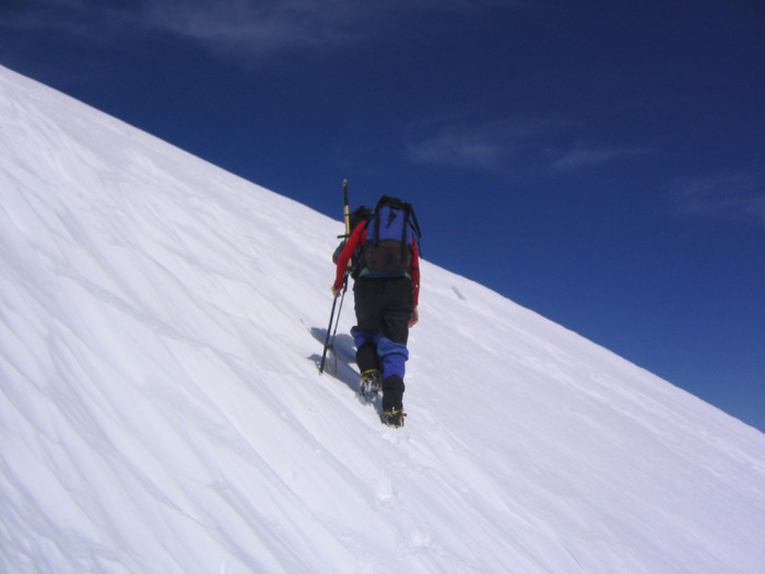 6. The crunching sound your boots make when you walk through the snow.