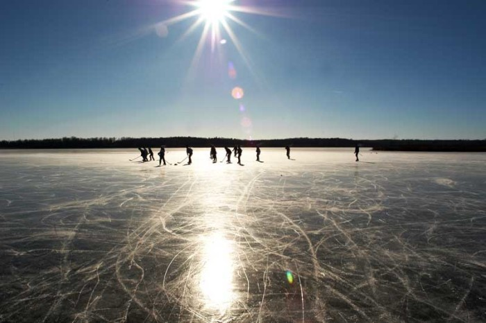 5. We play our favorite sport outside in negative degree weather.