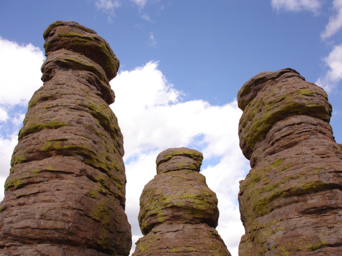 12. Hoodoos, like these found at Chiricahua National Monument, are another strange but beautiful sight.