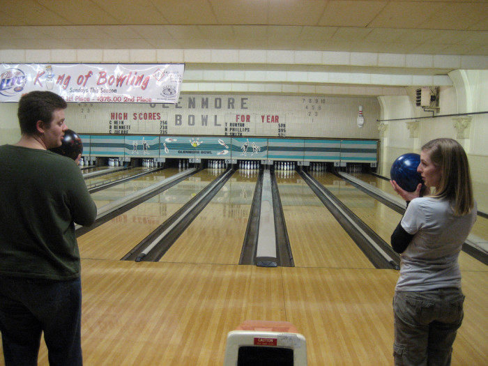 7. ...bowling allies…