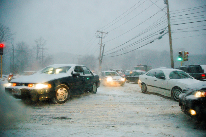 9) Slid into a snowy intersection... by accident!