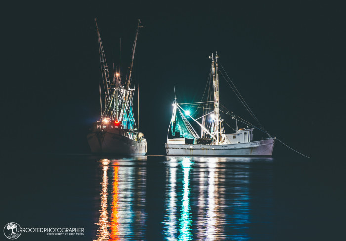 11. Shrimp boats in the night.