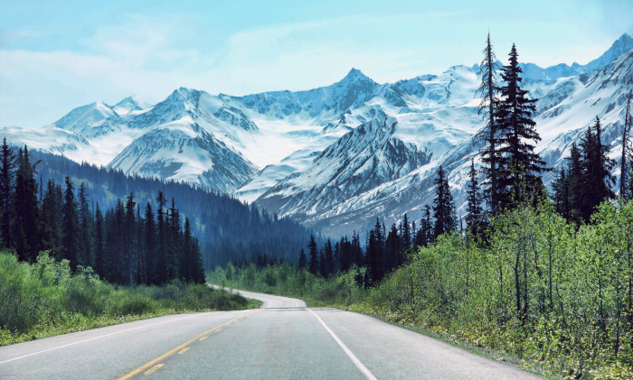 2) Take an early summer drive to Haines and witness this enchanting view yourself.