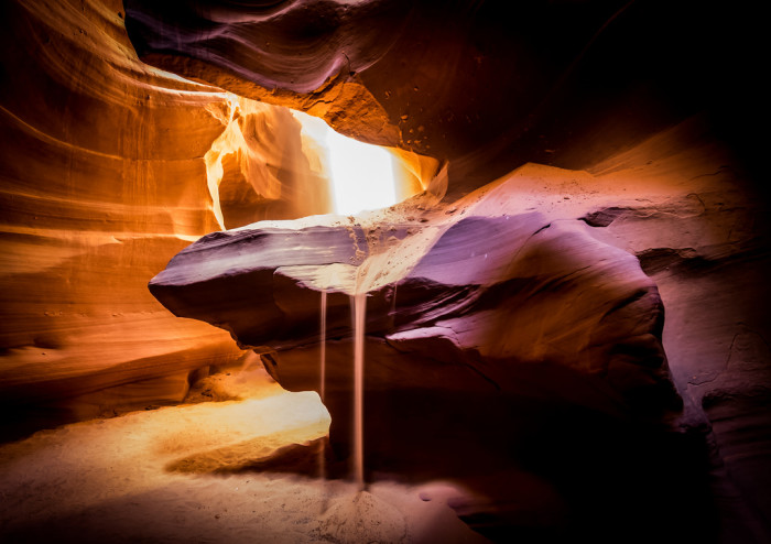 14. Antelope Canyon's quiet, unique beauty is another place you would probably anticipate seeing in a sci-fi movie.