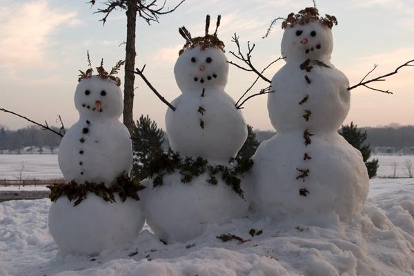 8. Snowmen (and snowladies).
