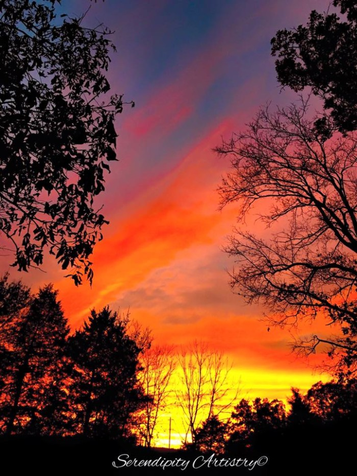 """22.Highway U in Irondale by Angie Coffman Doty.  She says, """"The sky changed every few minutes but at this exact time it was beautiful""""."""