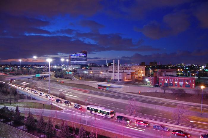 7) Traffic in downtown Detroit