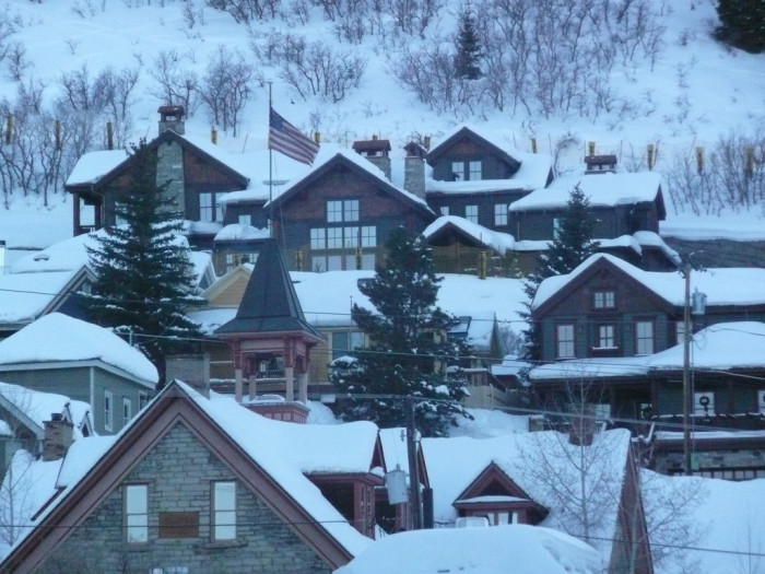 11. Park City starts to look like a little Christmas village.