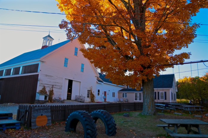 13. The close of a fall day at this farm in Warren makes us wish we could spend just a few more weeks with the glorious colors of the season.