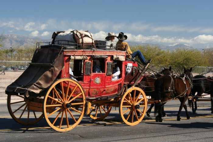 5. How do you keep the dust out of your eyes when you're riding your stagecoach?