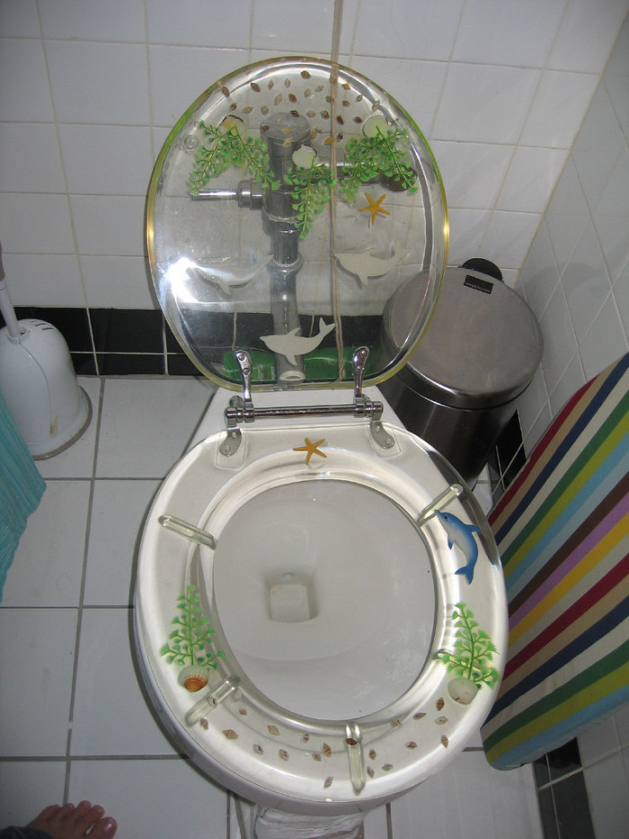 8. In 2008, Ness City police were called to a home where a woman's skin had grown around her boyfriend's toilet seat.