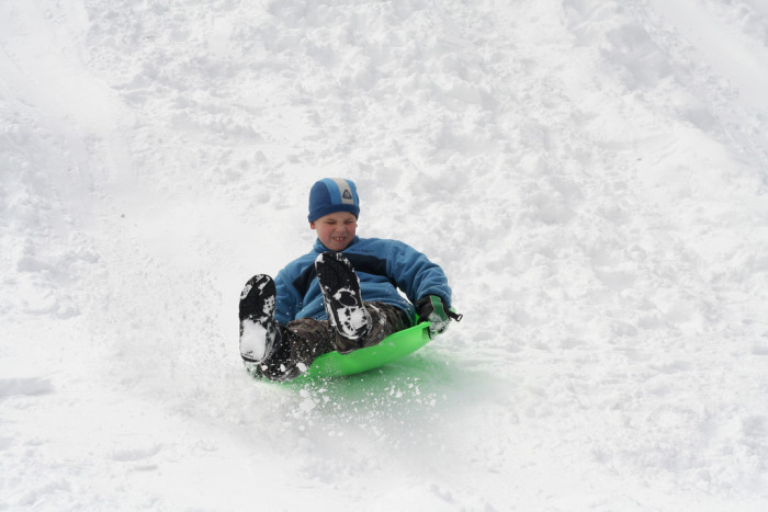 5. Snow days meant you could go meet the neighborhood kids at the prime sledding spot.