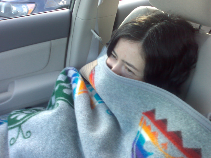 7. Put a blanket in your vehicle.