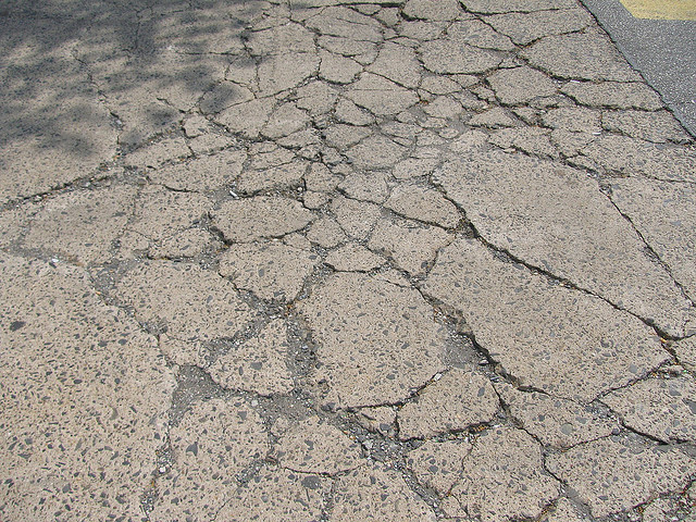 5. The damage winter does to roads