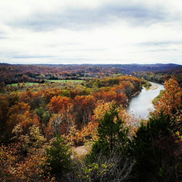 25.Overlooking the beautiful Current River in Shannon County by Amelia Buford.