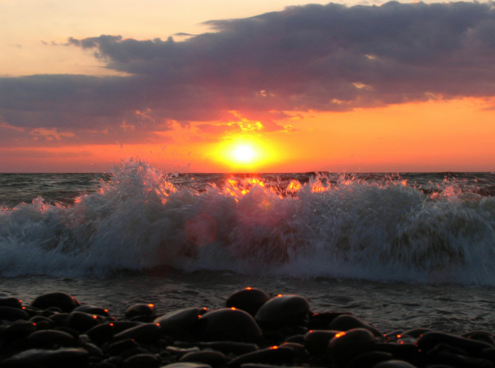 12. The shores of Lake Erie