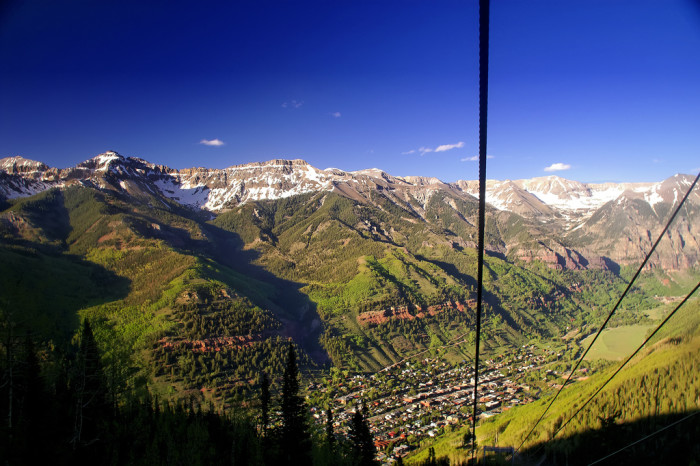 7. Soar high in the sky on the Telluride & Mountain Village Gondola.