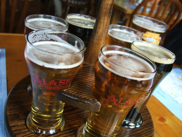 8) Enjoyed a cold Alaskan Brew.