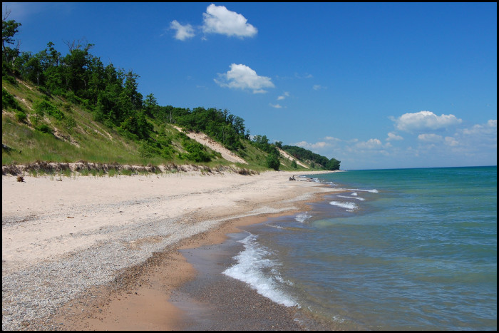 8. This fantastic view of the sand dunes south of Mt. Baldy in Michigan City says a lot about how beautiful our state is!