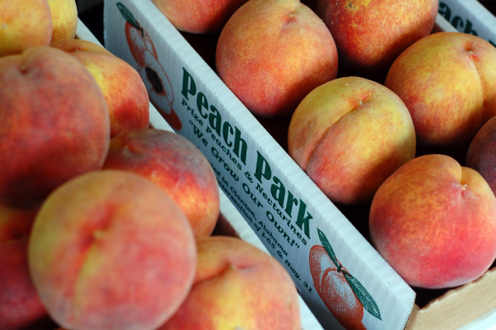 10. Delicious peaches from Peach Park.
