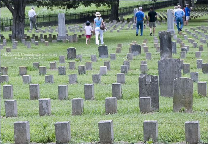 3) Visit a Confederate cemetery and pay your respects